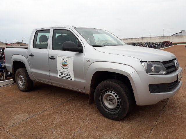 Camionete da Secretaria de Saúde de Rolim de Moura é presa em Blitz da Lei Seca, prefeitura esclarece