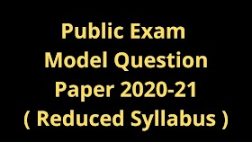 12th History Public Exam Model Question Paper Reduced Syllabus 2020-2021