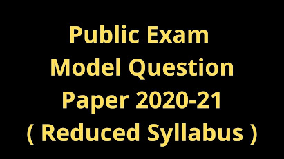 11th Public Exam Model Question Paper Reduced Portion