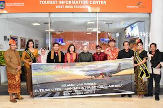 AirAsia Perth-Lombok Beroperasi. Wagub : Alhamdulilllah, Penumpang Full