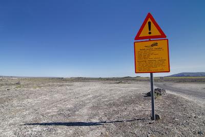 Cartel de advertencia F- Road - Seguridad Vial Islandia