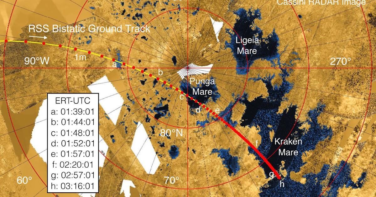 Cassini sperimenta nuove tecniche per mappare i laghi di Titano