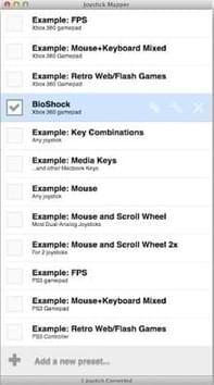 توصيل يد التحكم ps3 بجهاز الماك ببرنامج Joystick Mapper
