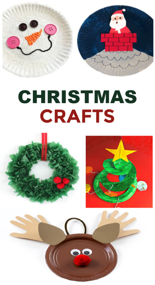 Tons of fun & creative holiday crafts for kids, all made using a paper plate. #paperplatecraftsforkids #paperplatechristmascrafts #holidaypaperplatecrafts #christmaspaperplatecrafts #christmascraftsfortoddlers #christmascrafts #growingajeweledrose #activitiesforkids