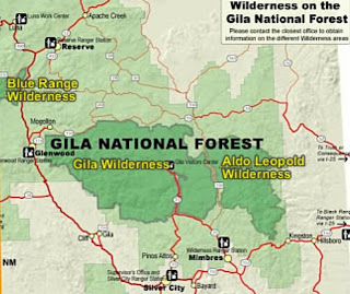 gila national forest map