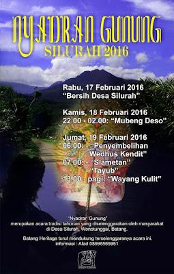 EVENT: 17-19 Februari 2016 | Nyadran Gunung Silurah 2016