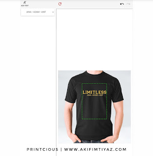 Cara Cetak T Shirt Di Printcious, Cetak Baju Design Sendiri Di Printcious, Custom Made T Shirt Di Printcious, Tempat Cetak T Shirt Murah, T Shirt Printing,