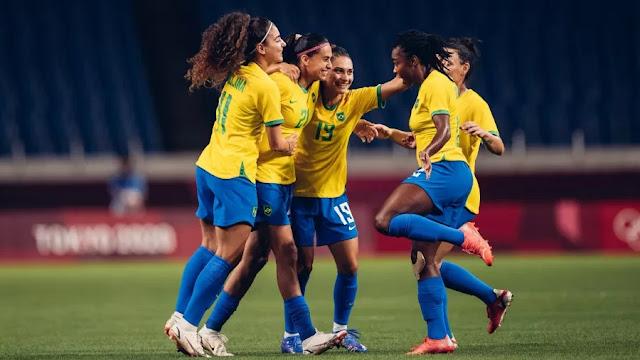 Brasil vence Zâmbia e vai enfrentar o Canadá nas quartas de final
