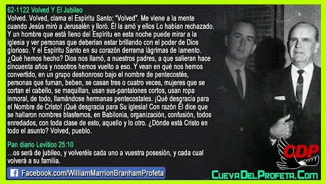 En su corazón derrama lágrimas de lamento - William Branham en Español