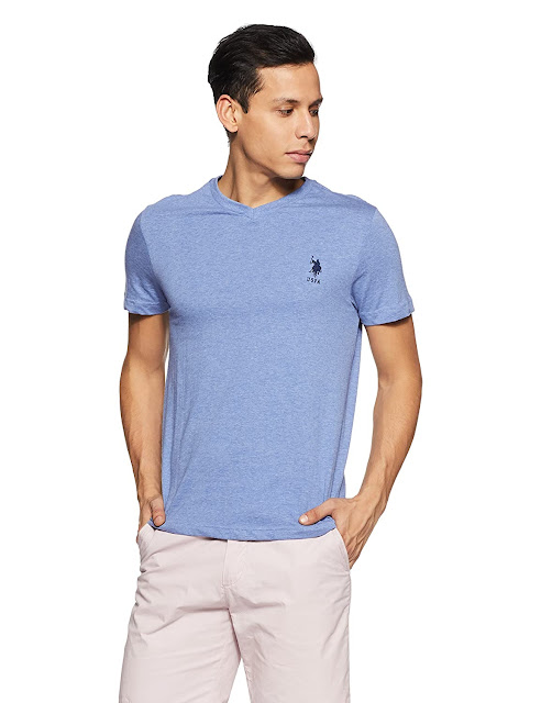Buy US Polo Association Men's Solid Regular Fit T-Shirt At Amazon.in