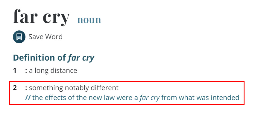 Arti Far Cry Menurut Merriam Webster