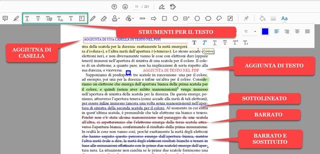 aggiunta e personalizzazione del testo nei PDF