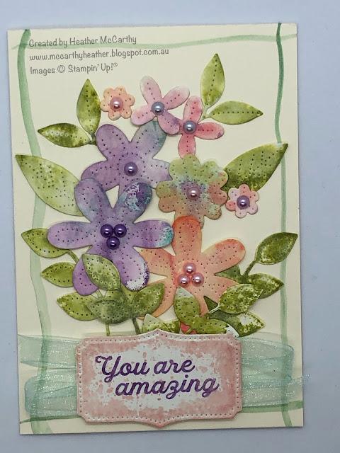 Stampin' Up!, Pierced Blooms dies, In Bloom Stamps, Watercolour