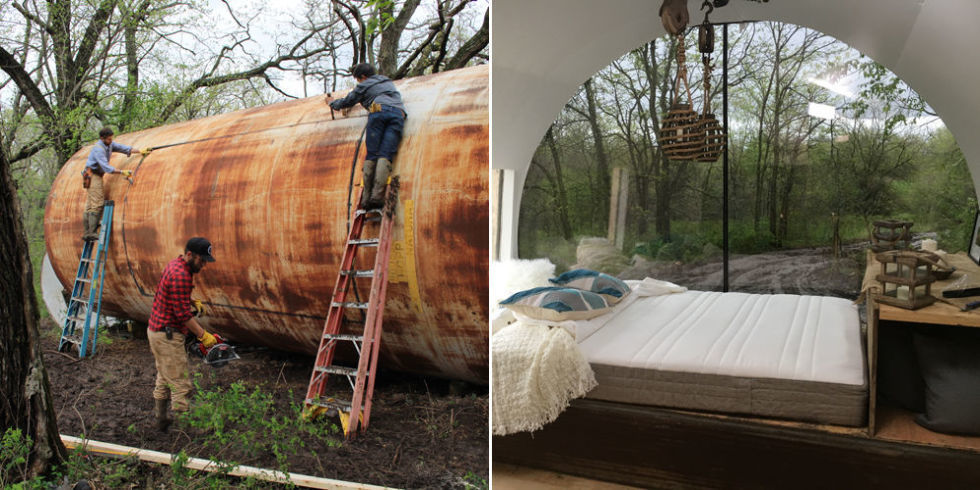 The Rusty Storage Tank Turned Tiny Home Is One Of Most Unique Homes I Have Come Across
