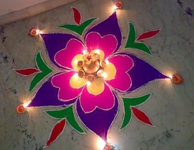 Deepavali Images With Rangoli