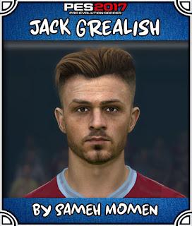 PES 2017 Faces Jack Grealish by Sameh Momen