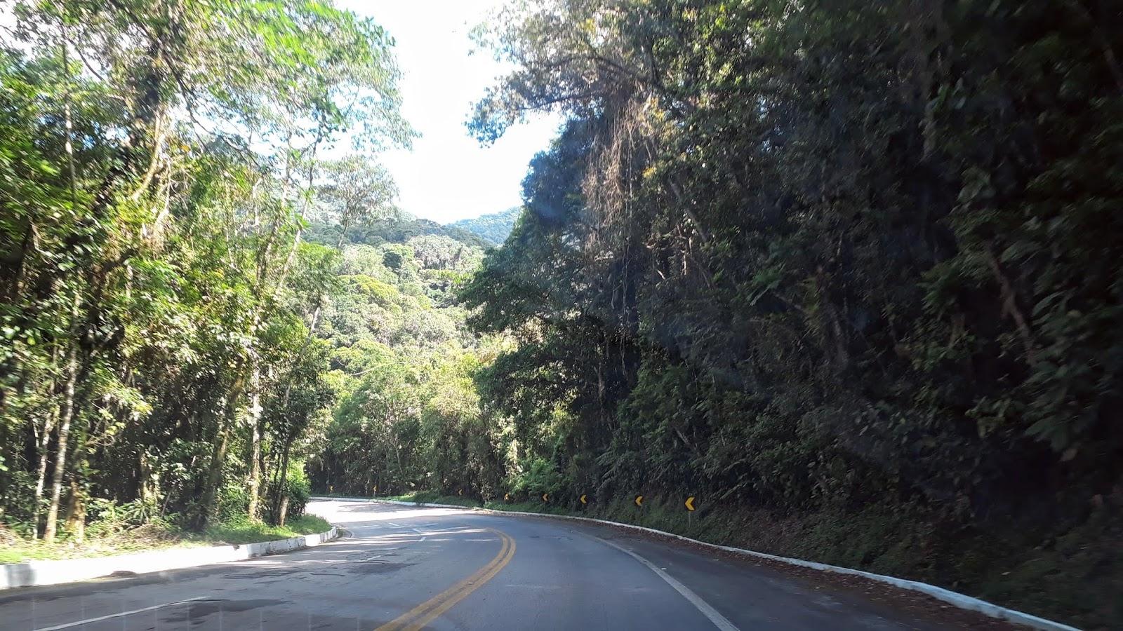 Paisagem da Rodovia Rio-Santos