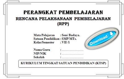 gambar cover RPP seni budaya SMP