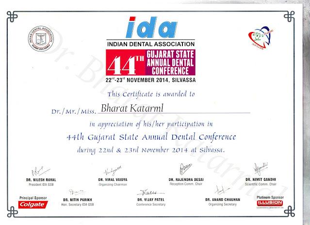 44th Gujarat State Annual Dental Conference 2014, Silvassa