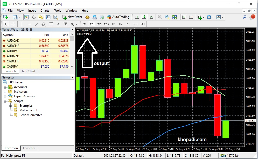 comment function hello world output of mql script in metatrader software.jpg