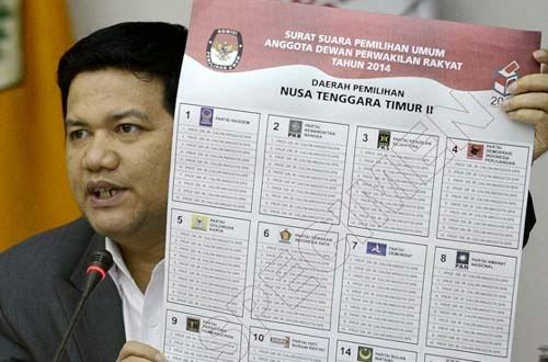 kpu terbitkan specimen surat suara pemilu legislatif