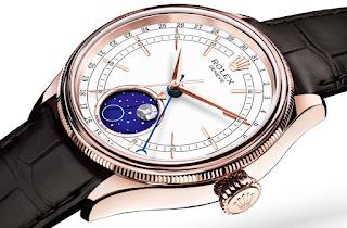 Montre Rolex Cellini Phases de Lune Référence 50535