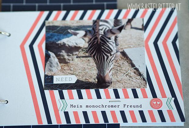 Minialbum SnapPap Buchbinderinge Cest la Schnipselritter Project Life Gute Gefuehle Bastelritter