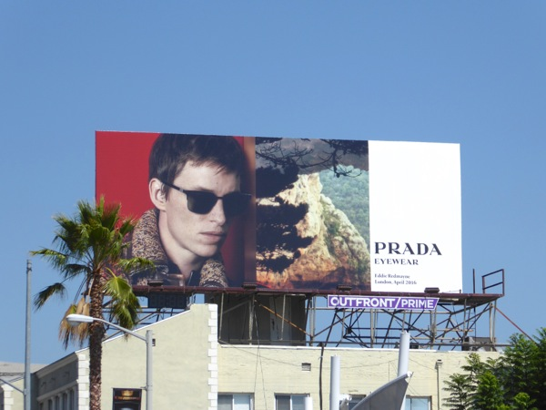 Eddie Redmayne Prada Eyewear FW16 billboard