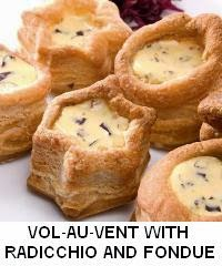VOL-AU-VENT WITH RADICCHIO AND FONDUE