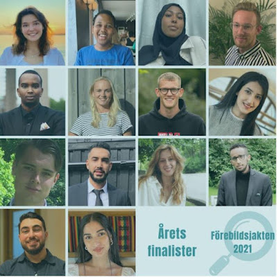 Kollage med porträttbilder av de 14 finalisterna.