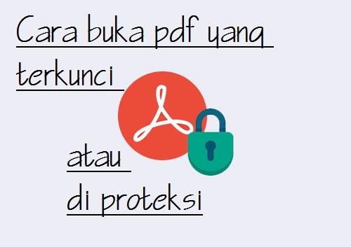 cara buka pdf yang terkunci