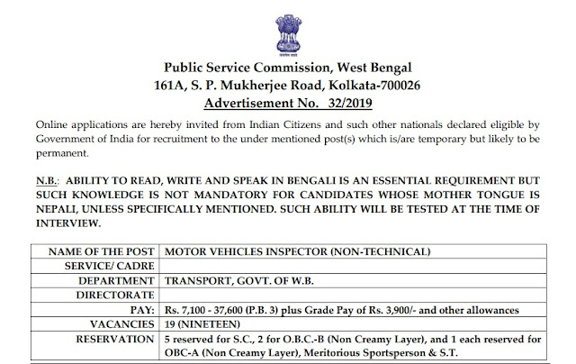 inspektar भर्तिय Official PDF Notification