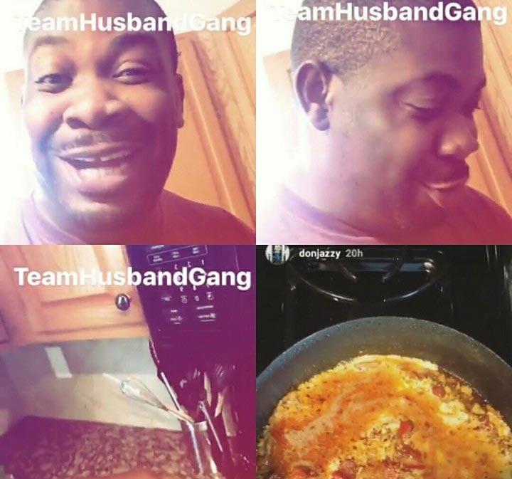 Husband material: Don Jazzy shows off his cooking prowess in Snapchat video