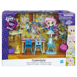 My Little Pony Equestria Girls Minis Pep Rally School Cafeteria Set Fluttershy Figure