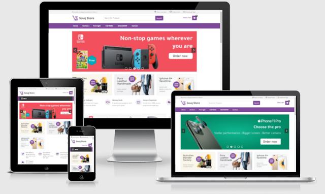 Souq store premium blogger template