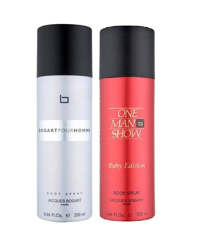 Pack Of 2 - Bogart Pour Homme And Ruby Edition Body Spray 200 ml
