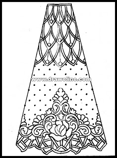 lehenga pencil sketch of fashion illustration,bridal lehenga sketch of fashion designer, how to draw lehenga for weeding