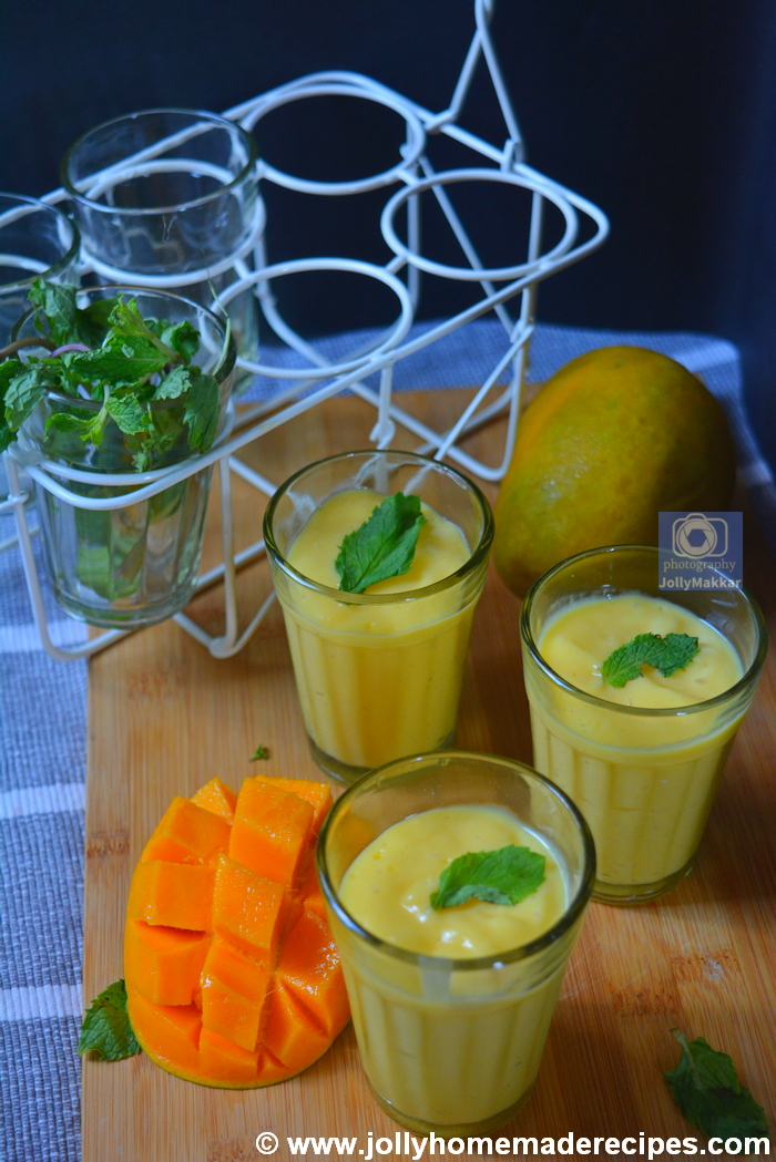 Rose Mango Lassi Recipe