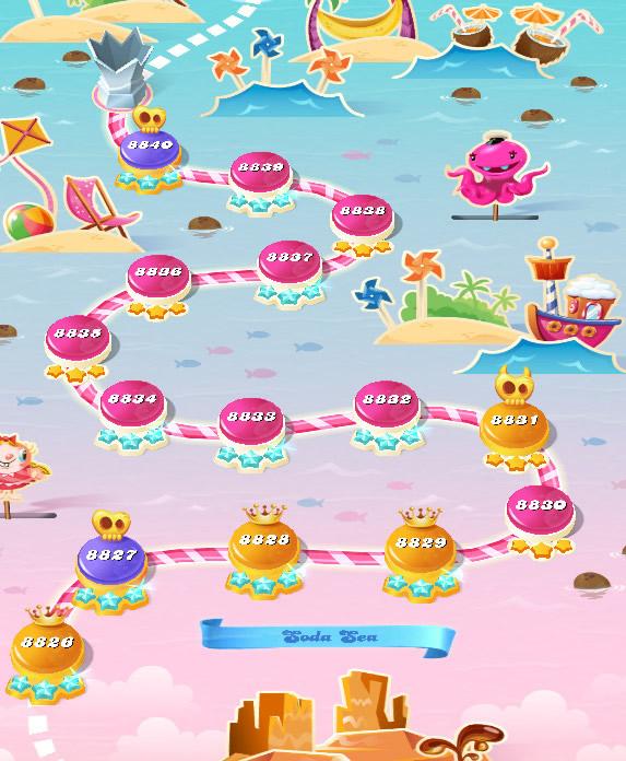 Candy Crush Saga level 8826-8840