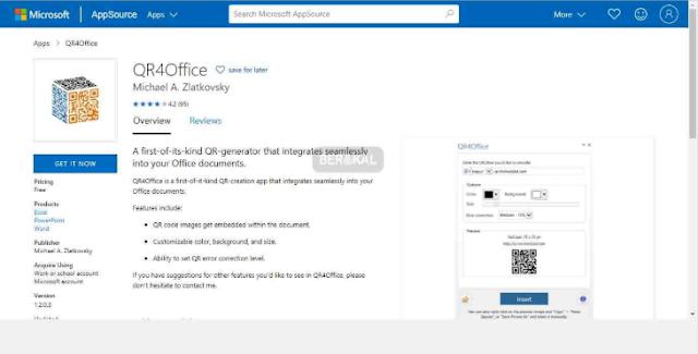 Add-in QR4Office Untuk Membuat Kode QR di Excel