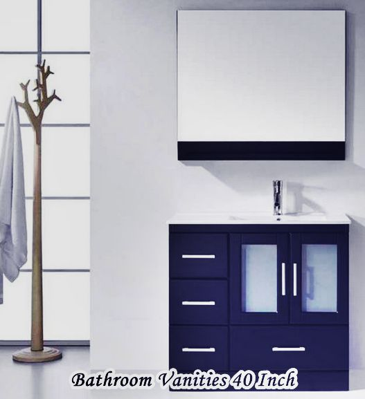 Bathroom Vanities 40 Inch Single Sink