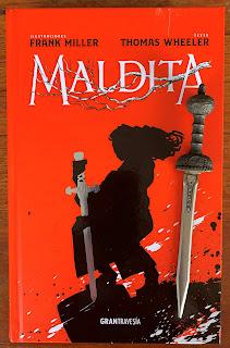 Portada del libro Maldita, de Frank Miller y Thomas Wheeler