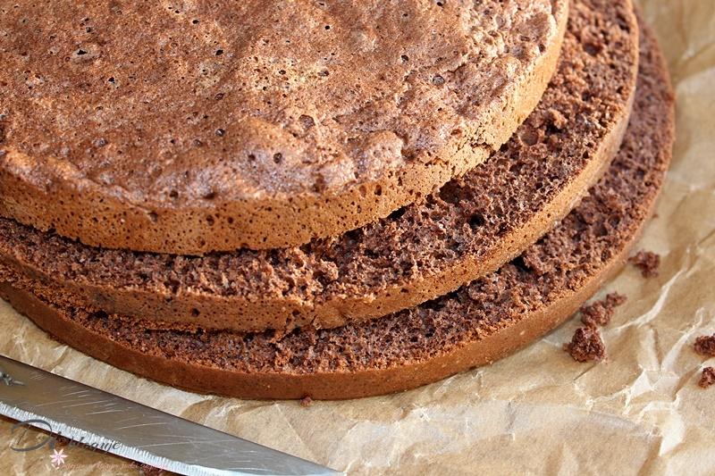 Uniwersalny biszkopt kakaowy do ciast i tortów (różne wymiary)