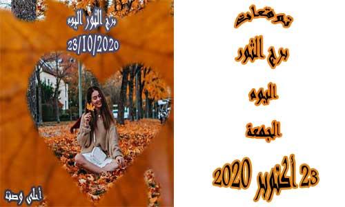 توقعات برج الثور اليوم 23/10/2020 الجمعة 23 أكتوبر / تشرين الأول 2020 ، Taurus