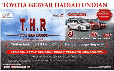 Promo Toyota Jakarta 2018