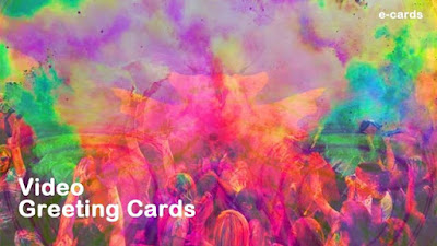 E greeting Wallpaper for Holi 2019
