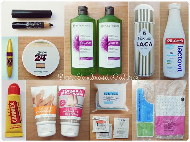 productos terminados maquillaje Maybelline y cosmética low cost
