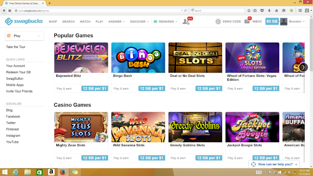 swagbucks games
