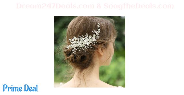 Sliver Rhinestones Bridal Hair Piece 30%OFF