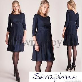 Princess Sofia wore SERAPHINE Sophia Pleated Dress